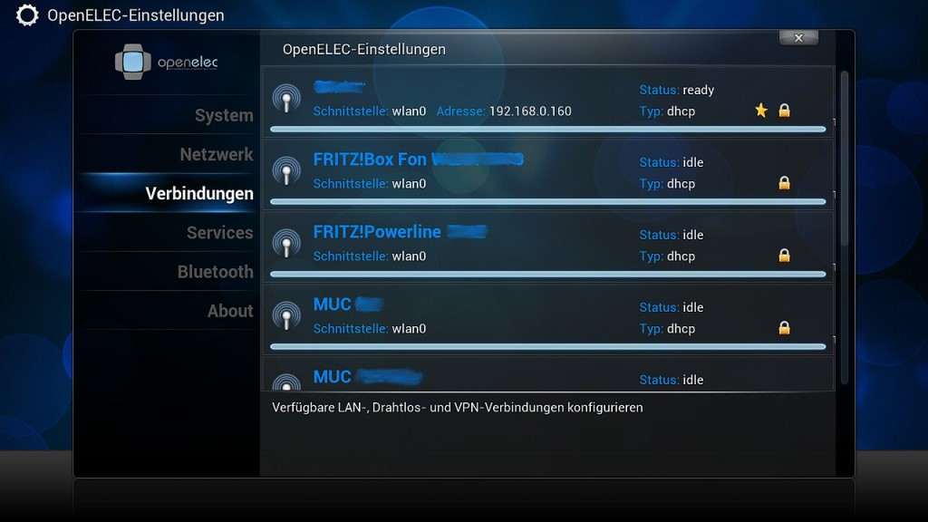 OpenELEC Konfiguration 9