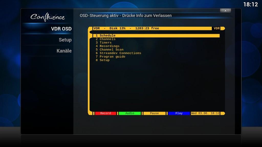 OpenELEC VDR Inst 10