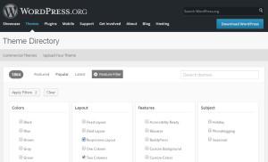 WordPress Theme Suche