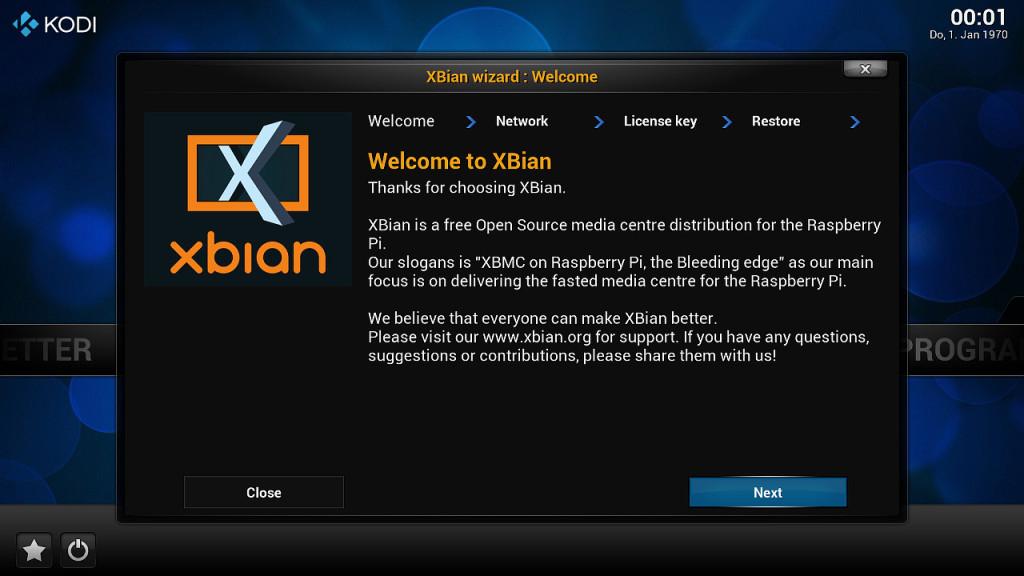 XBian Konfiguration 1