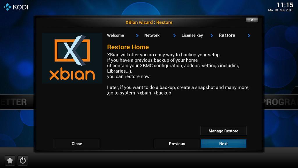XBian Konfiguration 4