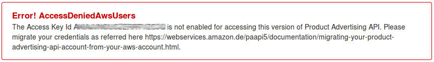 Access Denied AWS Users