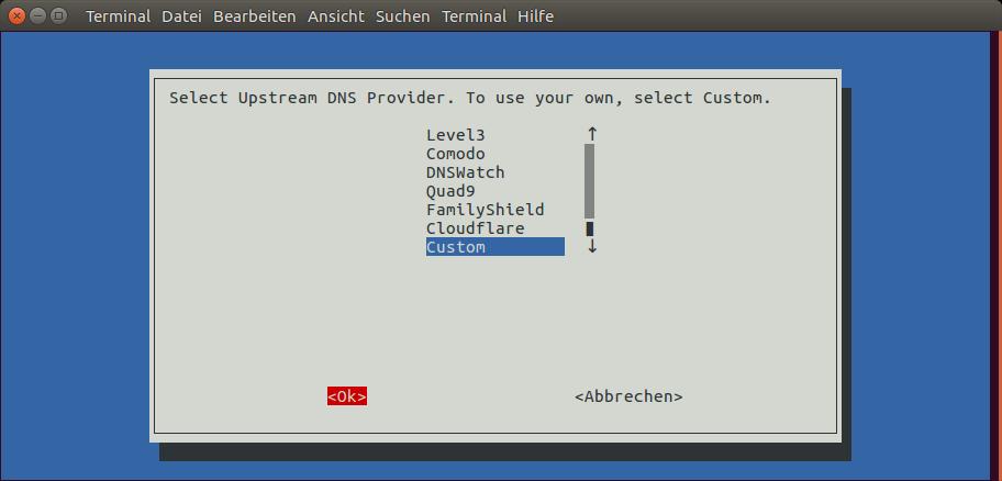Upstream DNS Provider