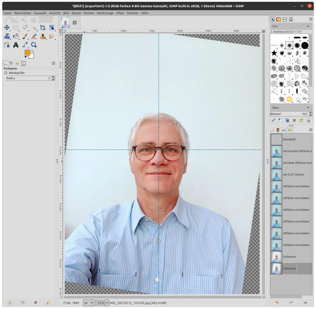 Farben in GIMP optimiert