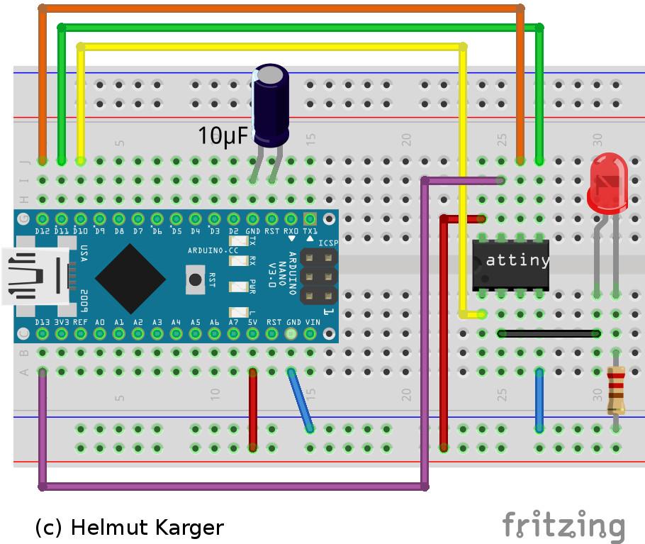 Nano-Programmer-Steckplatine
