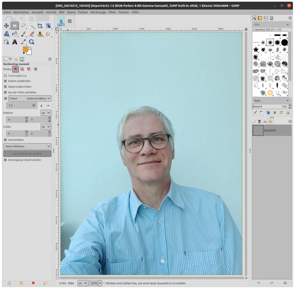 Ursprungsbild in GIMP