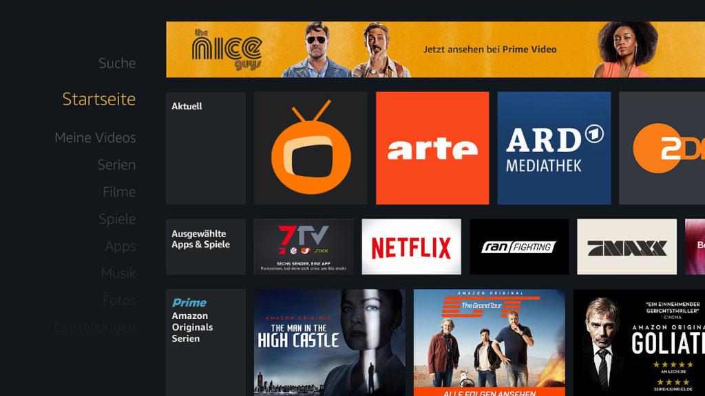 Fire TV Startseite