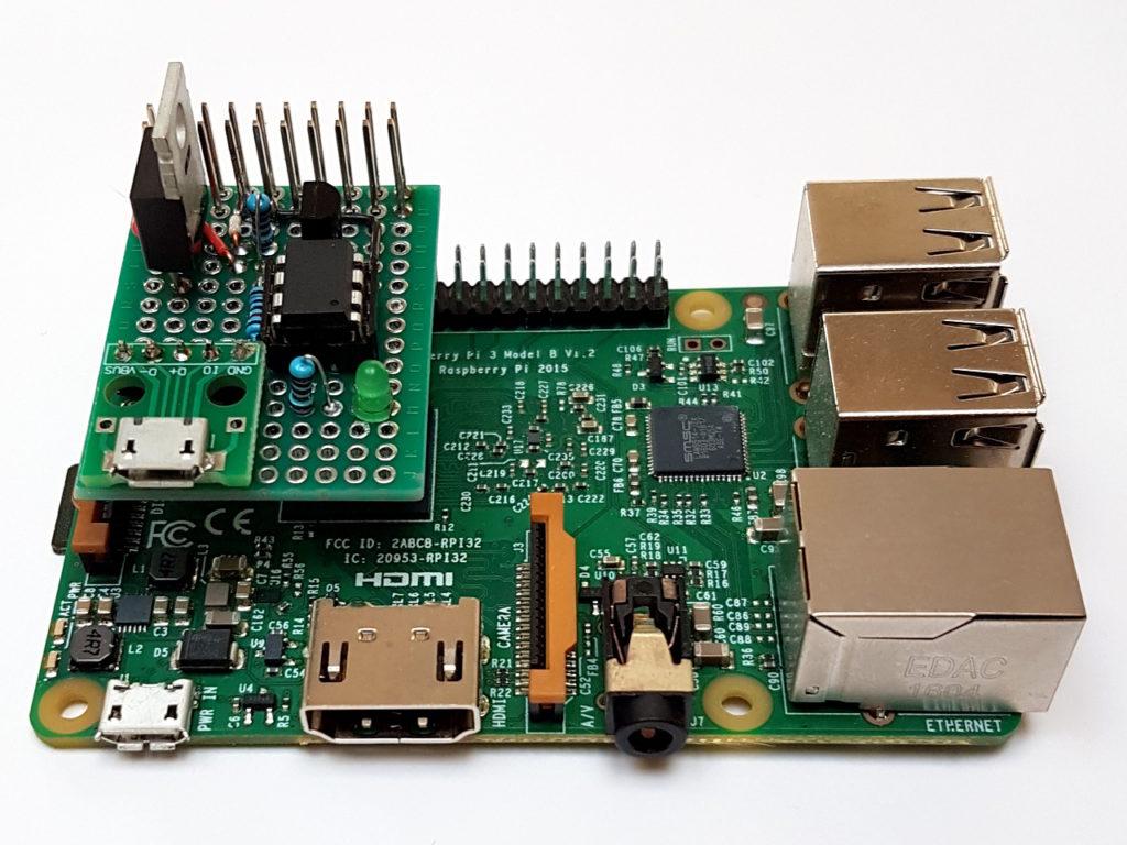 Herzschrittmacher-Schaltung auf einem Raspberry Pi 3