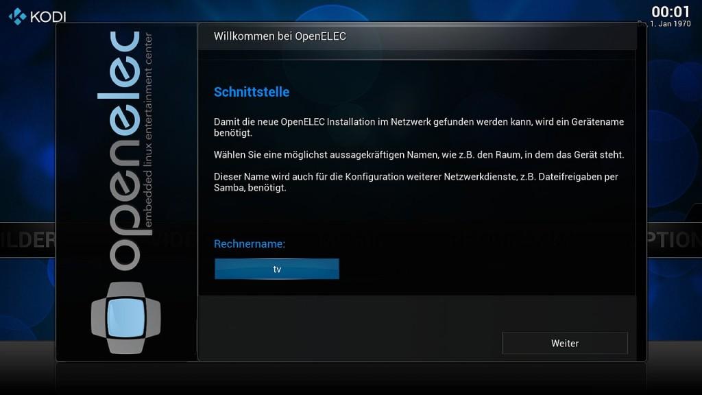 OpenELEC Konfiguration 2