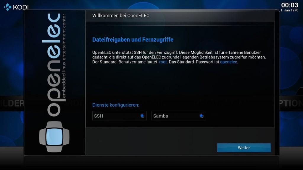OpenELEC Konfiguration 4
