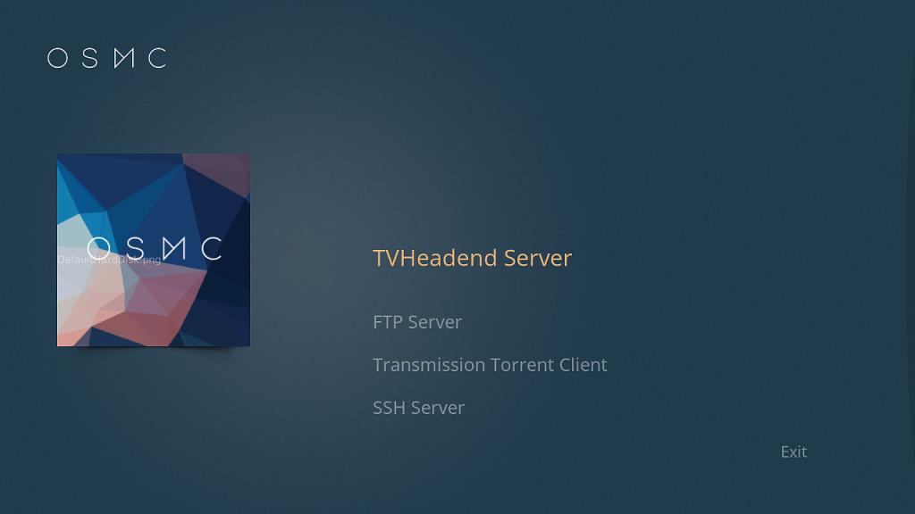 Tvheadend OSMC Inst 1