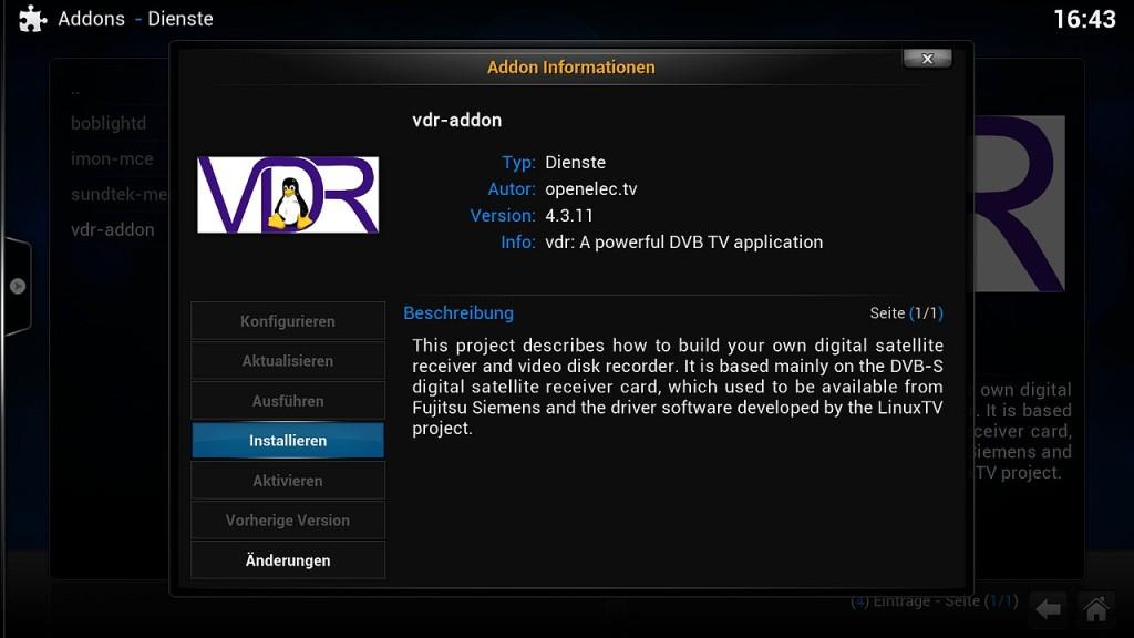 OpenELEC VDR Inst 1