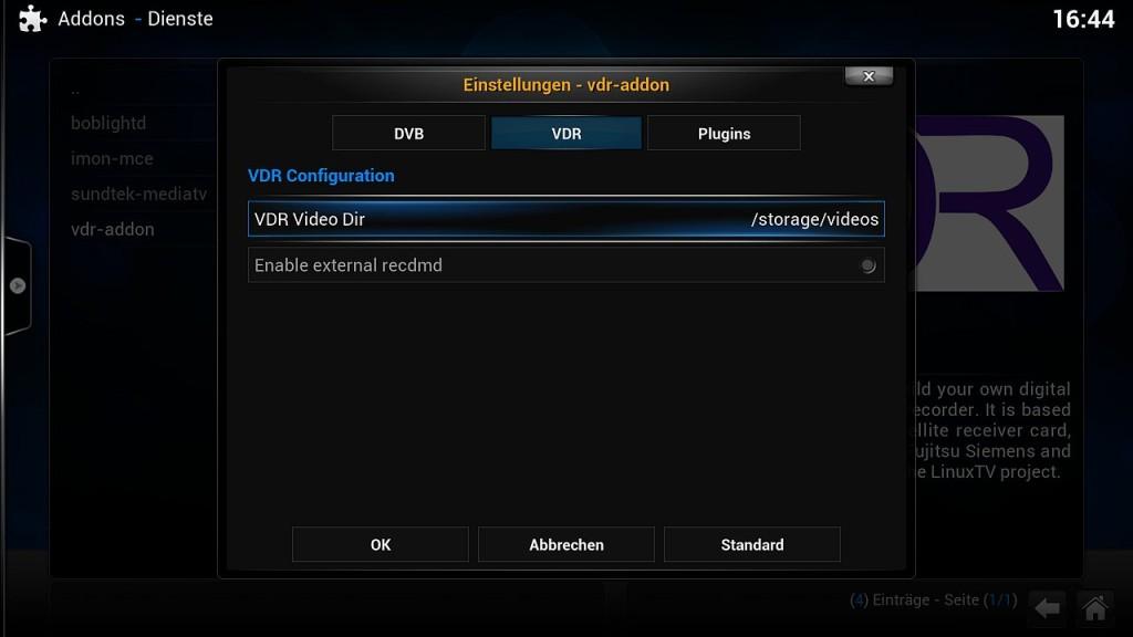 OpenELEC VDR Inst 3