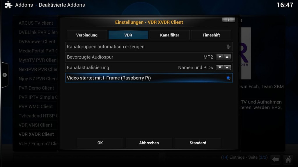 OpenELEC VDR Inst 6