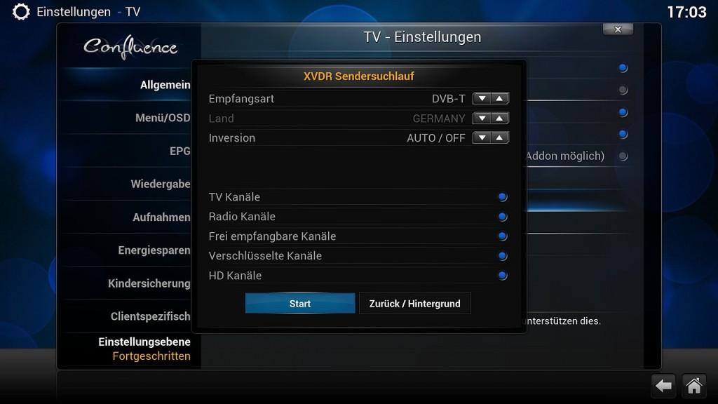 OpenELEC VDR Inst 9