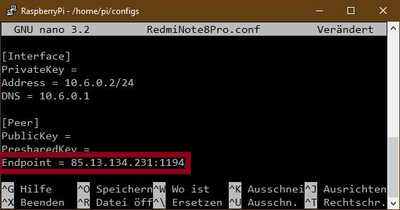 WireGuard Remote IPv4