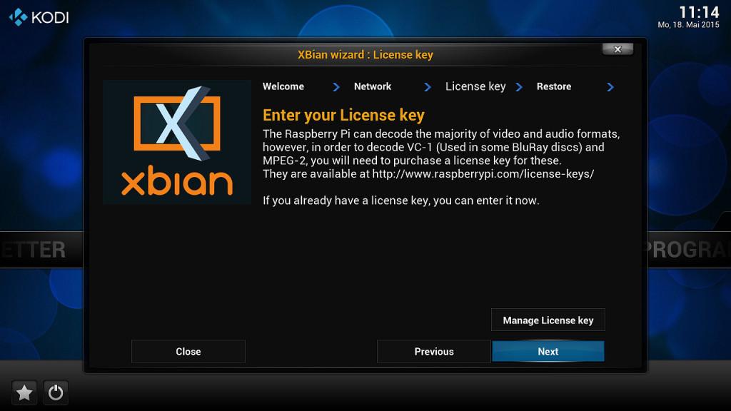 XBian Konfiguration 3