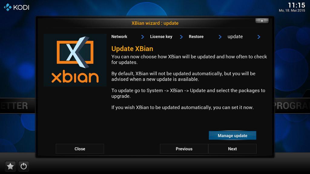 XBian Konfiguration 5