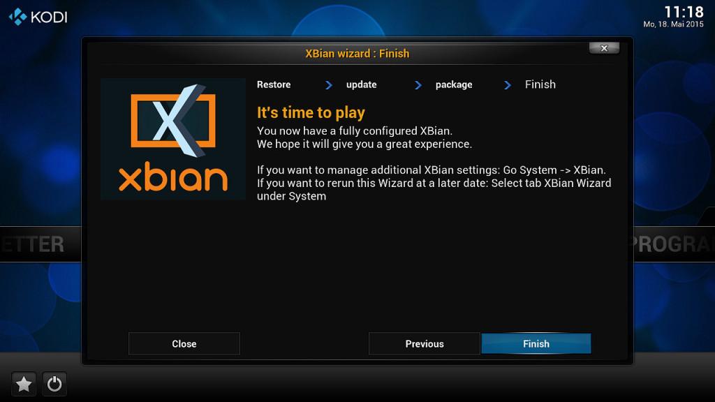 XBian Konfiguration 7